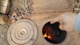Отопление теплицы дровами. Печка. Дрова