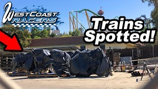 West Coast Racers Update: Trains Spotted! | Six Flags Magic Mountain