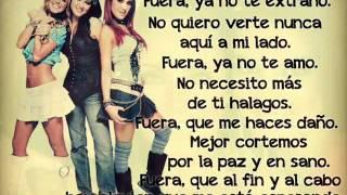 RBD - Fuera (Letra)