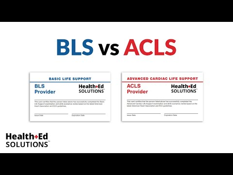 One Quick Question: BLS vs ACLS - YouTube
