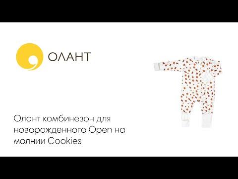 Олант комбинезон для новорожденного Open на молнии Cookies