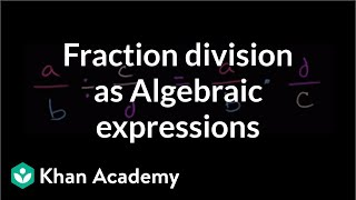 Algebraic expressions with fraction division | Introduction to algebra | Algebra I | Khan Academy