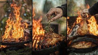 🍗 BEST BBQ CHICKEN IN THE WORLD 👍 - OUTDOOR ASMR COOKING