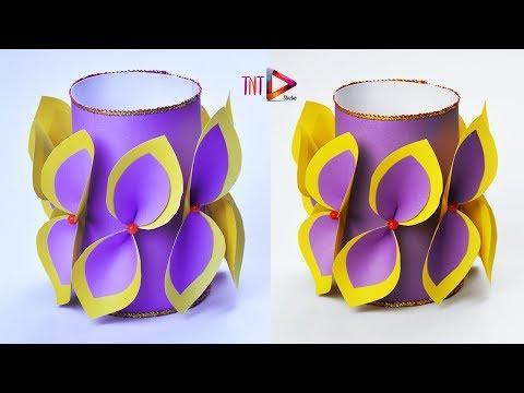 Download How To Make A Flower Vase With Newspaper Diy Flower Vase