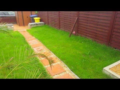 Gartenweg Aus Betonplatten und Zierkies DIY