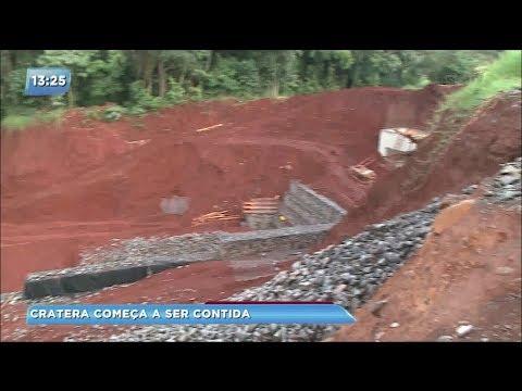 Erosão começa a ser contida em Arapongas