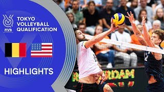 BELGIUM vs. USA - Highlights Men | Volleyball Olympic Qualification 2019