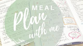 MEAL PLANNING With My Erin Condren Meal Planner And My Family Recipe Book