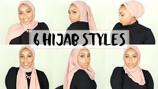 6 SIMPLE HIJAB STYLES USING 1 SCARF   Aysha Abdul