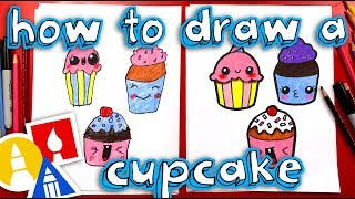 How To Draw Funny Cupcakes