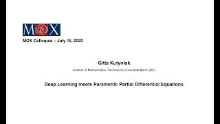 MOX Colloquia – Gitta Kutyniok – 16/07/2020