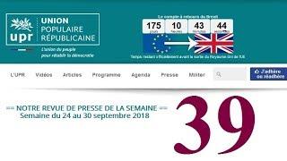 Revue de Presse UPR semaine n°39