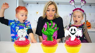 Gaby And Alex Making Halloween Cupcakes With Mama