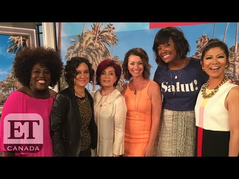 On The Set Of 'The Talk' With Sharon Osbourne, Sara Gilbert