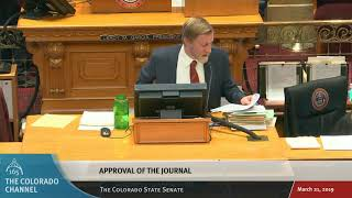 Colorado State Senate Reading of Entire Journal (3/21/19)