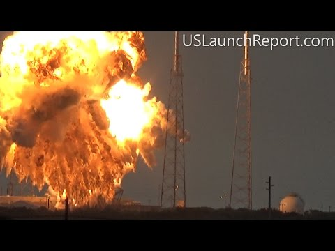 SpaceX  Static Fire Anomaly - AMOS-6