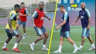 Vidal, Malcom & Arthur Melo Training in Barcelona ft. Messi, Dembele...