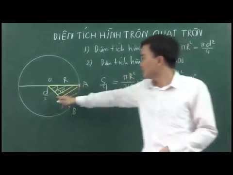 Diện tích hình tròn Toán 9