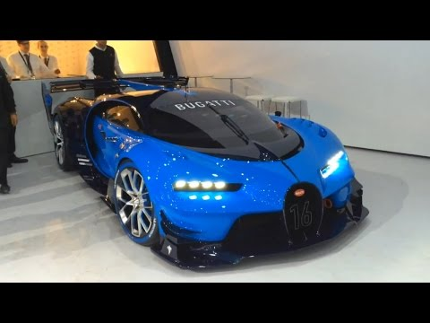 Bugatti Vision GT - real car start up, revving, moving