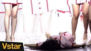 쇼케이스 도중 쓰러진 걸그룹 샤샤 SHASHA 중국인 멤버 완린 @ 샤샤  'WHAT THE HECK' Showcase