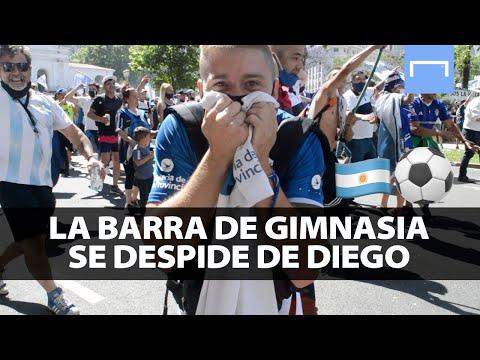 """""""Así se despidió la barra de Gimnasia de Diego"""" Barra: La Banda de Fierro 22 • Club: Gimnasia y Esgrima"""