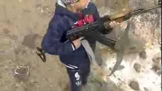 Syrian Kid Firing An Ak 47