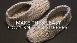 KNITTED SLIPPERS - EASY FOR BEGINNERS