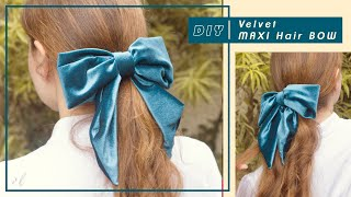 DIY Velvet Hair Bow - Moño En Terciopelo #tutorial | Carolina Llano