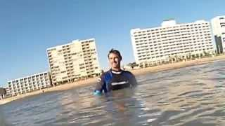 preview picture of video 'Great Day of Surfing (Bodyboarding) at Virginia Beach'
