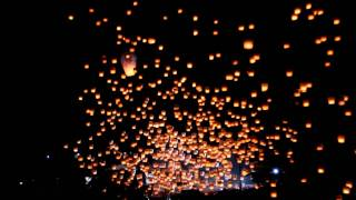 video thumbnail for Launching 1000 Sky Lanterns at the 2012 Pingxi Lantern Festival, Taiwan