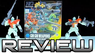 HG Build Custom GM GM Weapons Review - GUNDAM BUILD FIGHTERS ガンダムビルドファイター