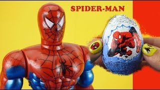 3 Spiderman Surprise Eggs Toys ★ Birthday Party Stop Motion Bonka Zonks