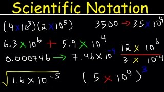 Scientific Notation Introduction, Multiplication and Division, Adding & Subtracting, Decimal & Stand