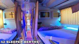 Volvo B11R Celeste Sleeper Bus | SMK Prakash | Orange Travels Premium Luxury Interiors & Exteriors