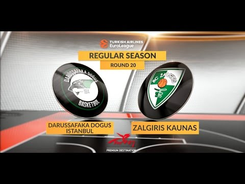 EuroLeague Highlights RS Round 20: Darussafaka Dogus Istanbul 66-69 Zalgiris Kaunas