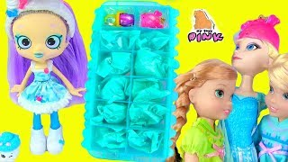 Disney Frozen + Shopkins + Num Noms ЛЕТНЯЯ ЛИХОРАДКА! Elsa & Anna Toddlers Save Queen Elsa! Сюрпризы