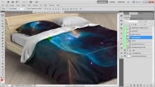 Bed Linens Mock-Up / Bedding Set Template Quick Instruction