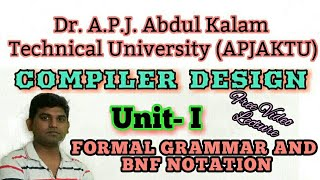 L11:Compiler Design Tutorial ,Formal Grammar and Their Application to Syntax Analysis, NBF Notation