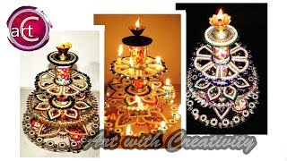 HOW TO: make diya stand  (diya stand decoration)