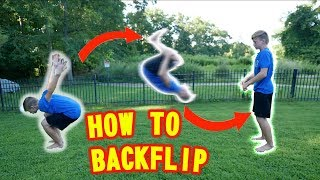 How to do a BACKFLIP on Ground and Trampoline | BEST TUTORIAL | You can learn in 5 minutes! |