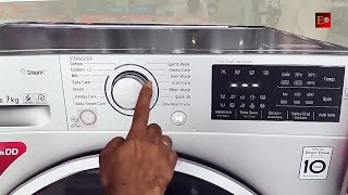 LG Front load washing machine demo   How to use lg front load washing machine   Lg front load washer