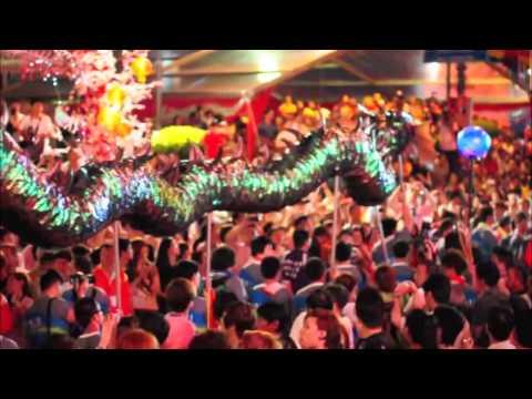 馬來西亞柔佛古廟大遊行Johor Bahru Chingay Celebration
