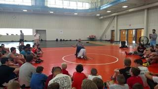 Front Head – Hahn Cornell at Lycoming Wrestling Camp