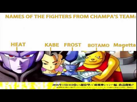 Dragon Ball Super Chapter 7-Names Of Universe 6 Fighters