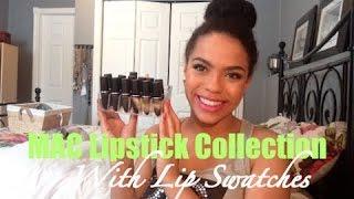 MAC Lipstick Collection Lip Swatches | samantha jane
