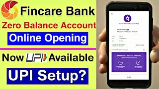 Fincare bank online zero balance account now link with upi |💥| Fincare Bank Account UPI Setup new🔥