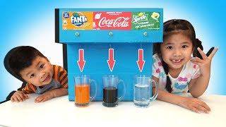 TRÒ CHƠI MÁY BÁN COCA COLA FANTA SPRITE TỰ ĐỘNG ♥ BÉ BÚN – BÉ BẮP ♥ Coca Cola Fountain Machine