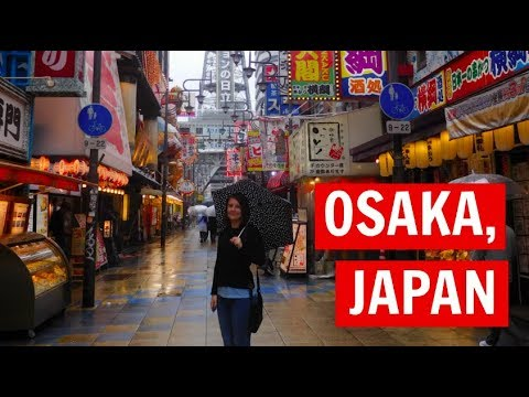 Osaka, Japan: Golden Princess, Asia Cruise Vlog10 (2018)