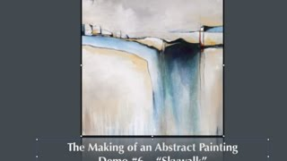 See The Making Of An Acrylic Abstract Painting  -Contemporary Art Style- Blending