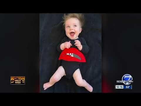 Mom dresses baby in different costumes through October
